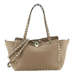Valentino Rockstud Tote Pebbled Leather Small