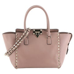 Valentino Rockstud Tote Rigid Leather Small