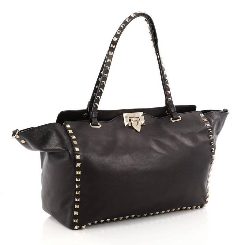 Valentino Rockstud Tote Soft Leather Medium nuS15Mnr