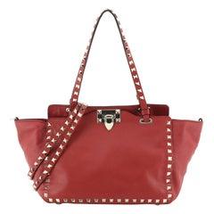Valentino Rockstud Tote Soft Leather Small