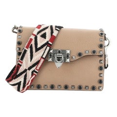 Valentino Rolling Rockstud Crossbody Bag Leather with Cabochons Small