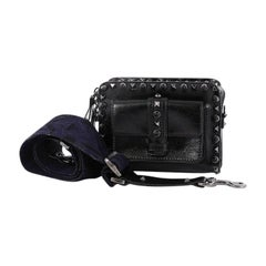 Valentino Rolling Rockstud Pocket Crossbody Leather with Cabochons Mini