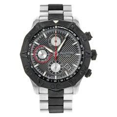 Valentino Rubber Bezel Chrono Black Steel Automatic Men's Watch V40LCA9R909-S09R
