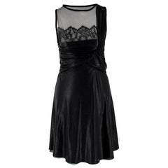 Valentino Silk-blend Gathered Knot Front Dress US 2