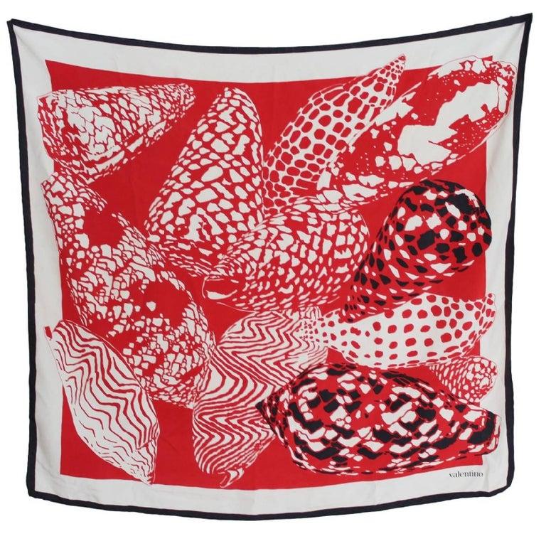 Valentino Silk Foulard Vintage Red White