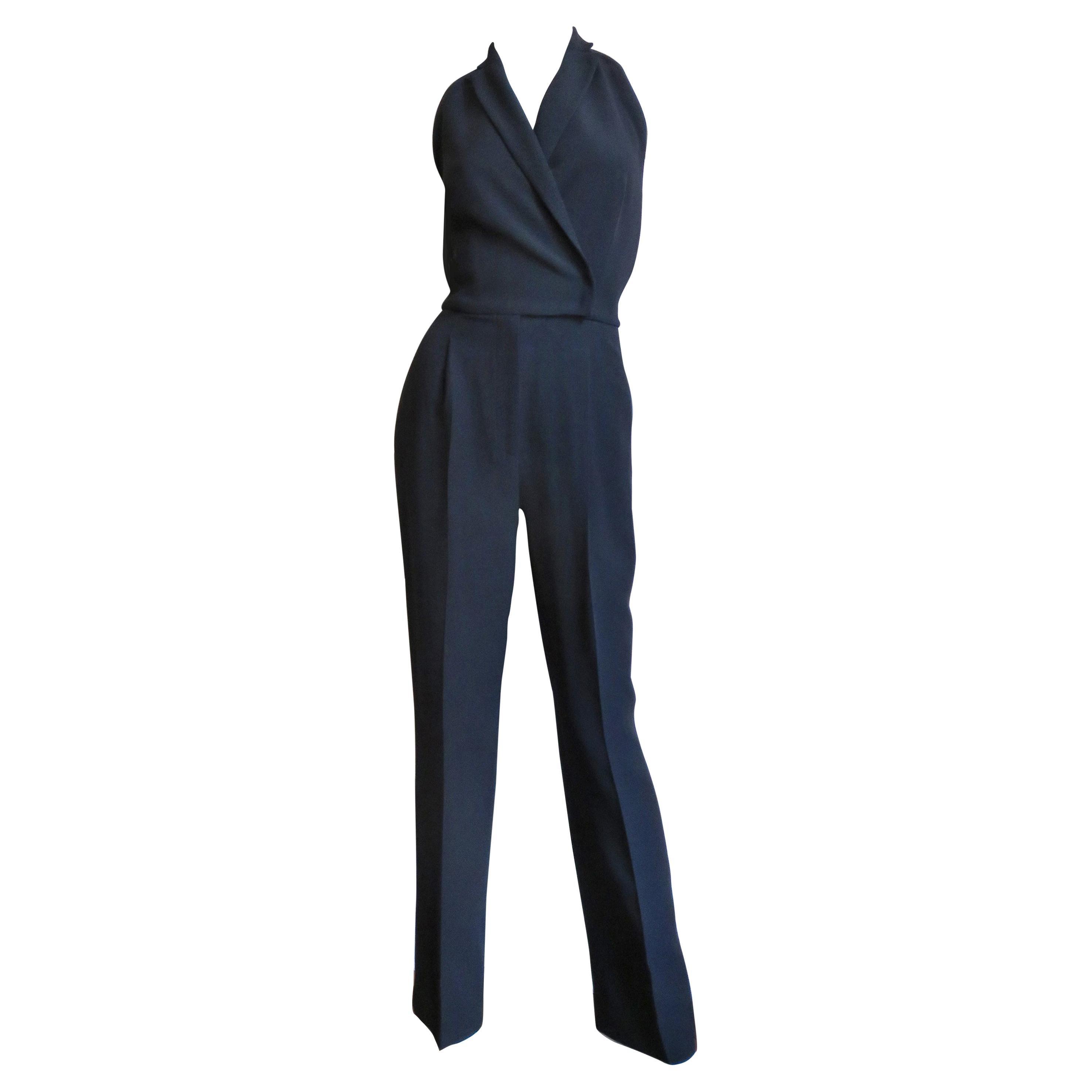 Valentino Silk Halter Jumpsuit