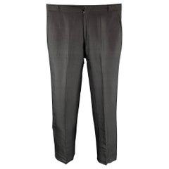VALENTINO Size 32 Black Flax Zip Fly Dress Pants