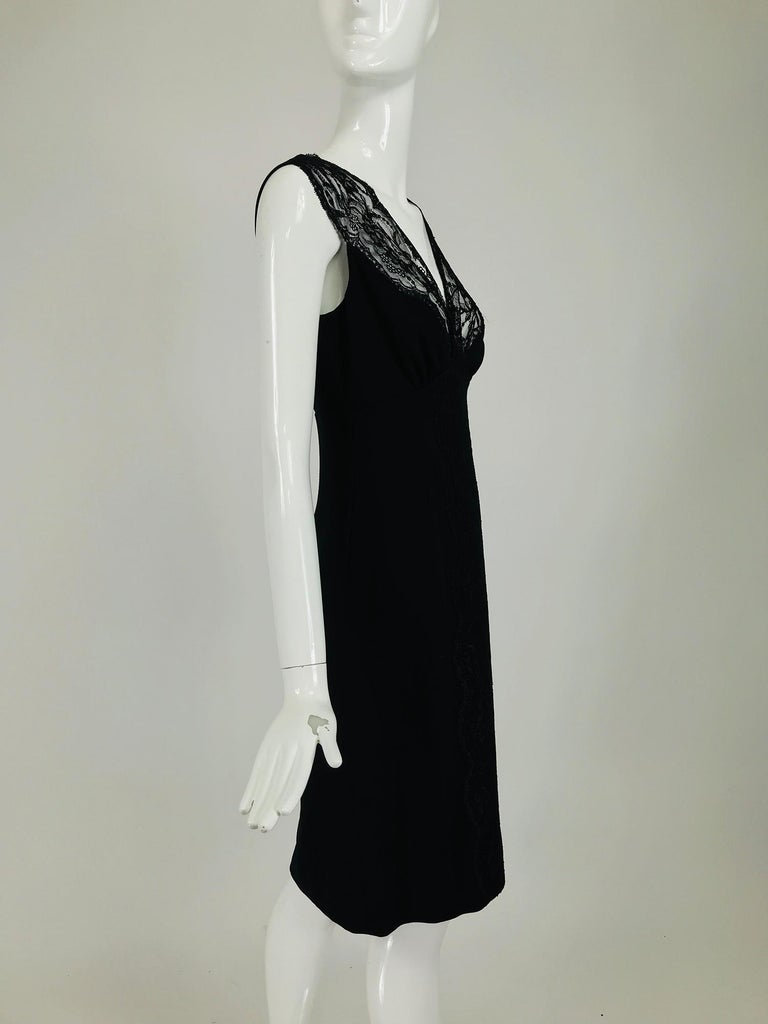 Valentino Sleeveless Black Sheath with Black Back Décolletage. In Excellent Condition For Sale In West Palm Beach, FL