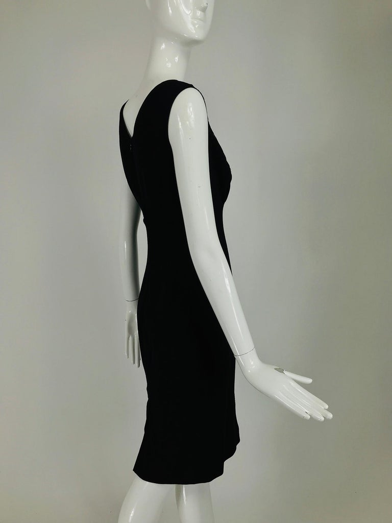 Women's Valentino Sleeveless Black Sheath with Black Back Décolletage. For Sale