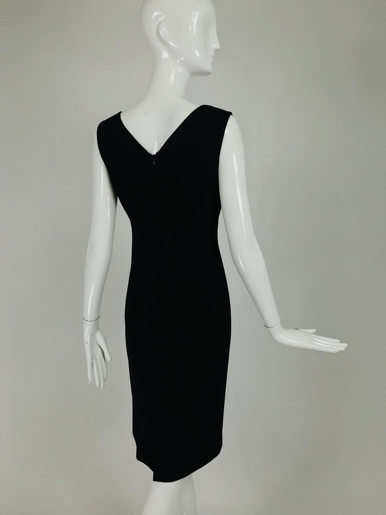 Valentino Sleeveless Black Sheath with Black Back Décolletage. For Sale 1