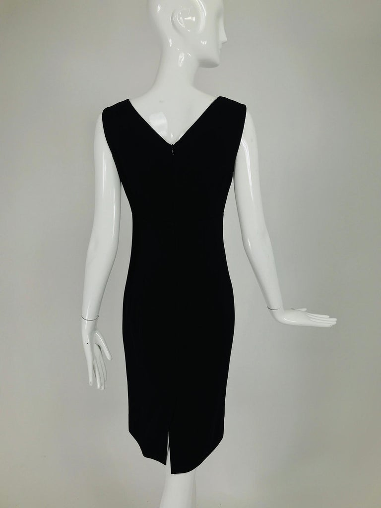 Valentino Sleeveless Black Sheath with Black Back Décolletage. For Sale 2