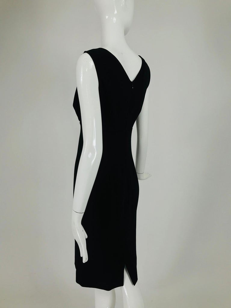 Valentino Sleeveless Black Sheath with Black Back Décolletage. For Sale 4