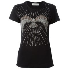 Valentino Stud-Embellished Cotton-Jersey Top