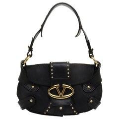 Valentino Studded Canvas Shoulder Bag
