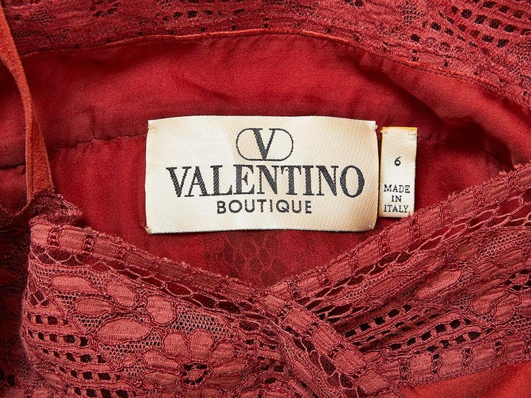 Valentino Suede and Lace Slip Dress For Sale 1