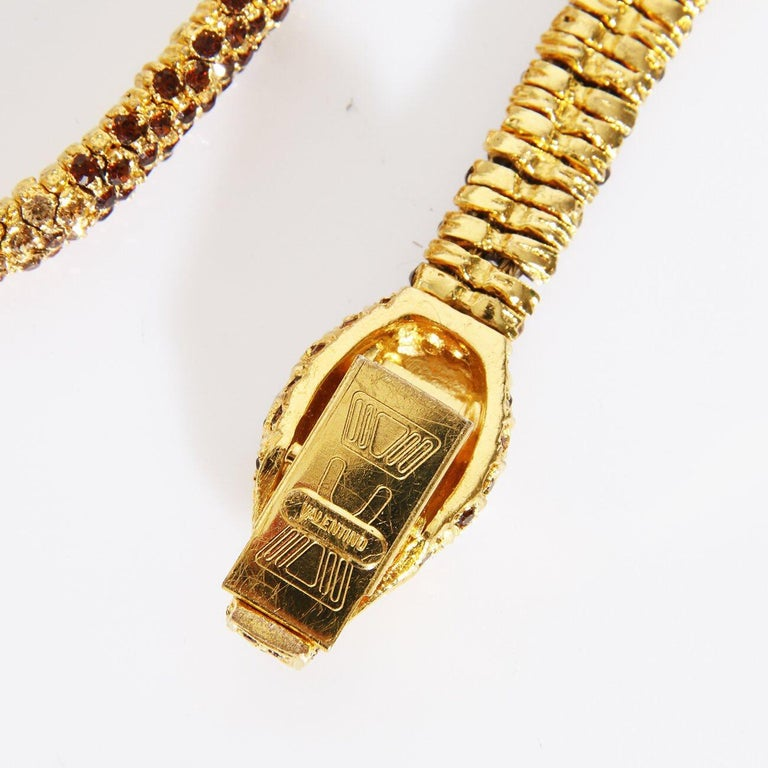 """Valentino Swarovski Crystal Link """"Snake"""" necklace C. 1970s In Excellent Condition For Sale In Los Angeles, CA"""