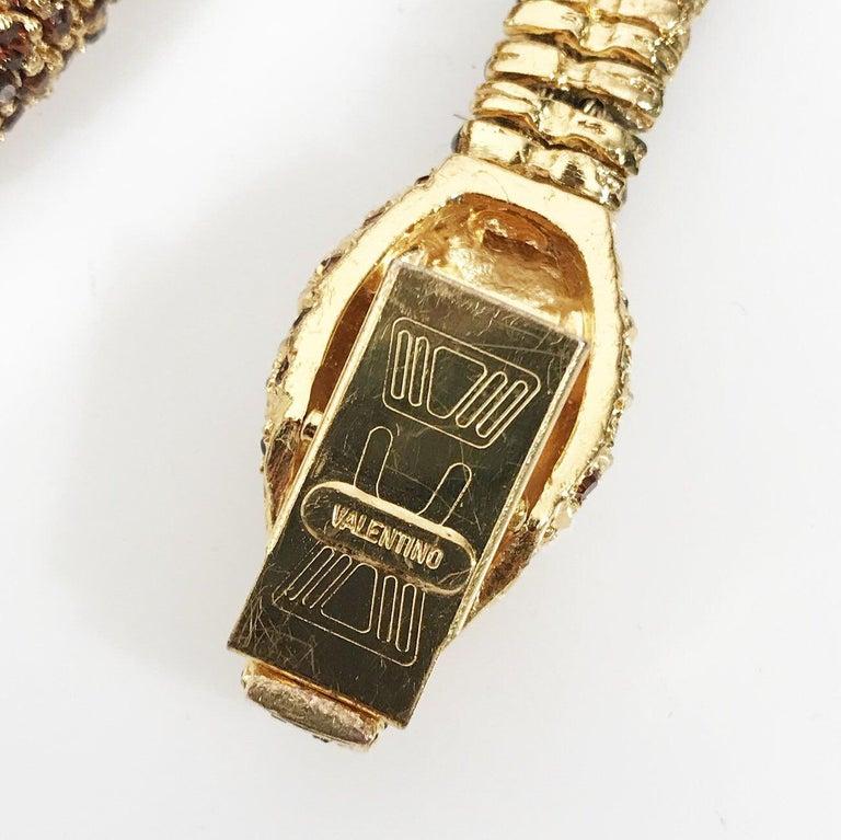 "Women's Valentino Swarovski Crystal Link ""Snake"" necklace C. 1970s For Sale"