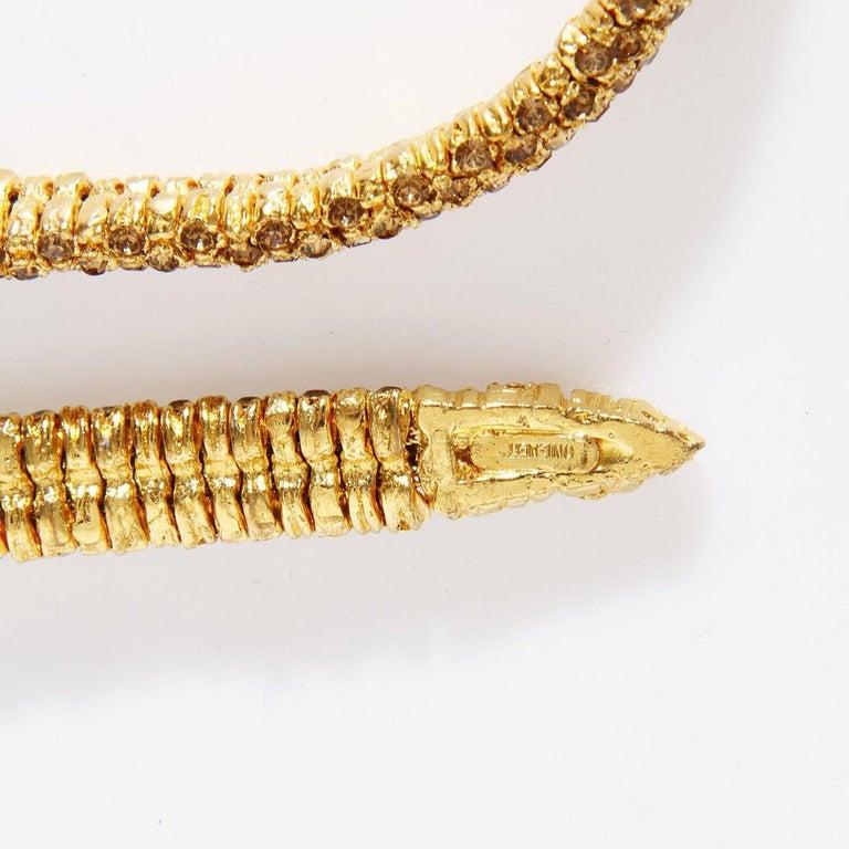 "Valentino Swarovski Crystal Link ""Snake"" necklace C. 1970s For Sale 1"