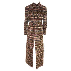Valentino Tapestry Pattern 2012/13 Runway Collection Long Coat Size 10 US