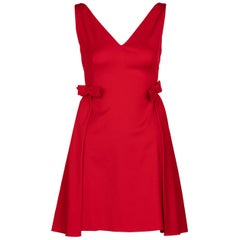 Valentino Techno Couture Sleeveless Red Bow Open Back Dress