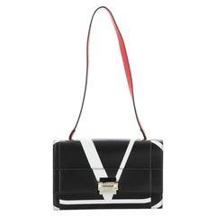 Valentino The Case Shoulder Bag Printed Leather Medium