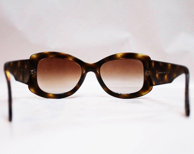 Women's Valentino Tortoiseshell Sunglasses, 1980s  For Sale