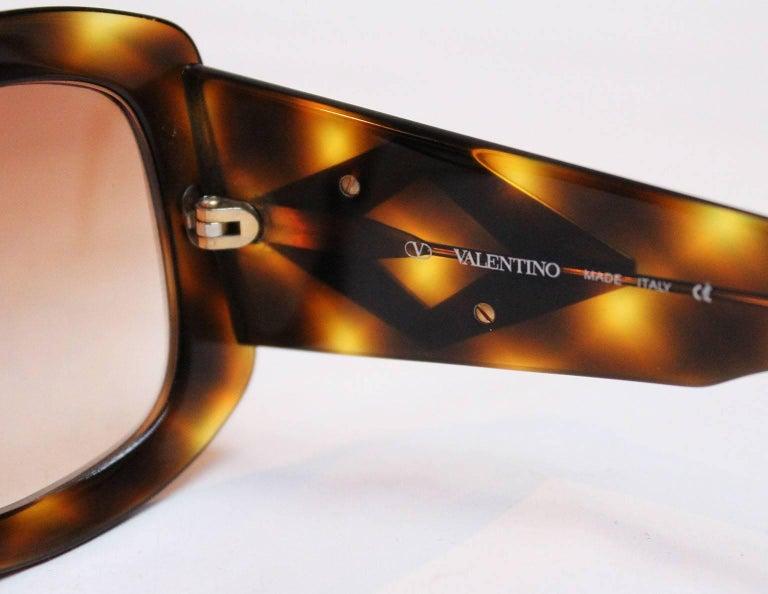 Valentino Tortoiseshell Sunglasses, 1980s  For Sale 1