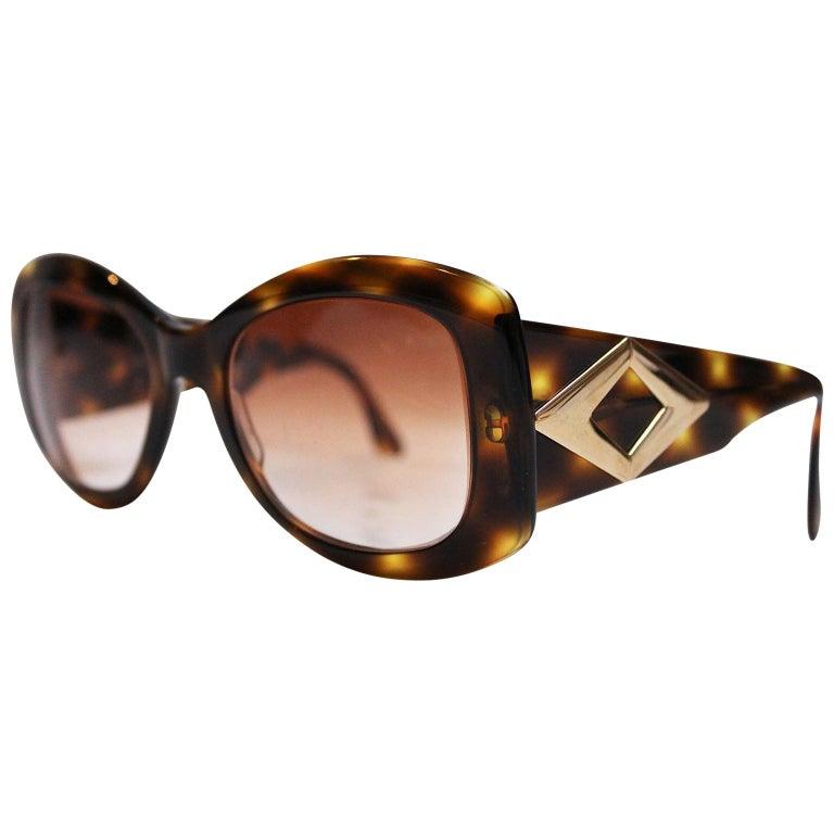 Valentino Tortoiseshell Sunglasses, 1980s  For Sale