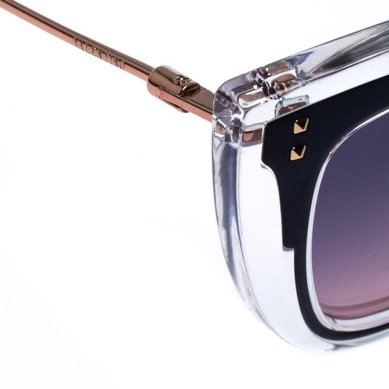 Valentino Transparent/Purple Gradient VA4031 Sunglasses For Sale 1