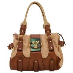 Valentino V Woven Leather Satchel