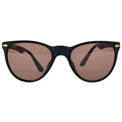 Valentino Vintage Black Acetate Classic Sunglasses 564 55/22 140 mm