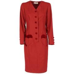 Valentino Vintage Burgundy Dress, 1990s