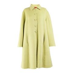 Valentino Vintage Green Cashgora Swing Coat
