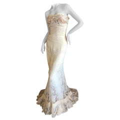 Valentino Vintage Lace Wedding or Evening Dress with Train