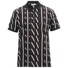 Valentino VLTN-print cotton polo shirt M