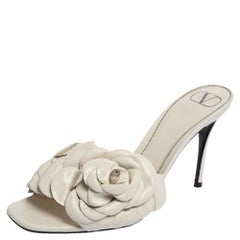 Valentino White Leather Atelier Sandals Size 40