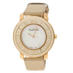 Valentino White Mother of Pearl Stainless Steel Women's Wristwatch 37 mm