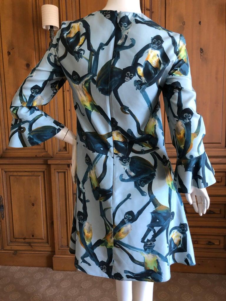 Valentino Witty Vintage Silk Cocktail Dress with Monkey Pattern 2