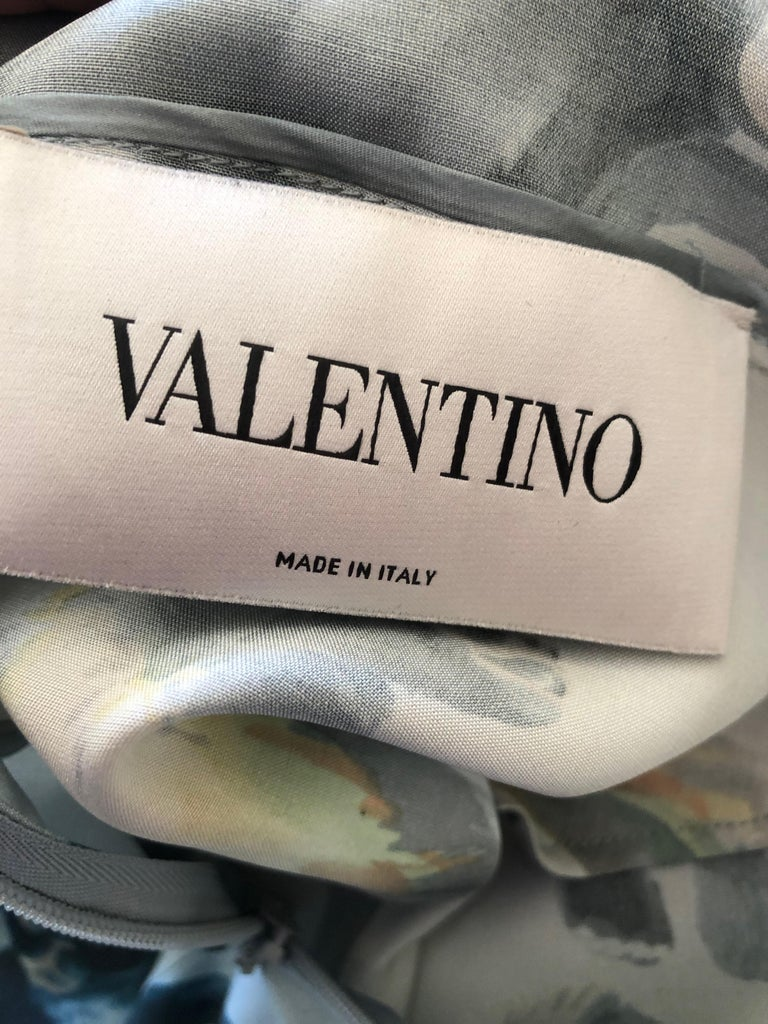 Valentino Witty Vintage Silk Cocktail Dress with Monkey Pattern 3