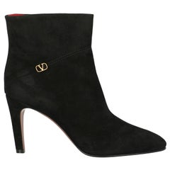 Valentino Woman Ankle boots Black Leather IT 41