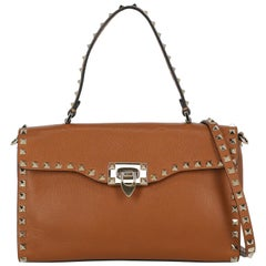 Valentino Woman Handbag Brown Leather