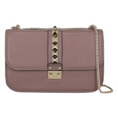 Valentino Woman Handbag GlamRock Purple Leather