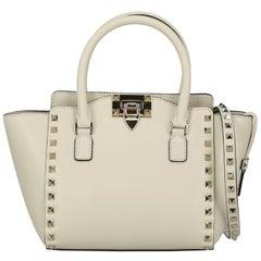 Valentino Woman Handbag Rockstud Ecru Leather