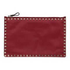 Valentino Woman Handbag Rockstud Red Leather