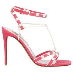 Valentino Woman Sandals Pink, White EU 39