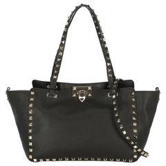 Valentino Woman Shoulder bag Rockstud Brown Leather