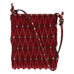 Valentino Woman Shoulder bag Rockstud Red Leather