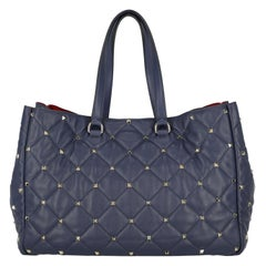 Valentino Woman Shoulder bag Spike Navy Leather