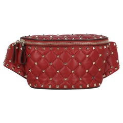 Valentino Women  Belt Bags Rockstud Red Leather