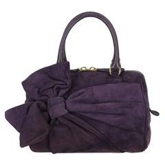 Valentino Women  Handbags Purple Leather